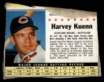1961 Post Cereal #57 BOX Harvey Kuenn   Front Thumbnail