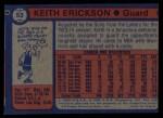 1974 Topps #53   Keith Erickson Back Thumbnail