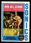 1974 Topps #70   Spencer Haywood Front Thumbnail