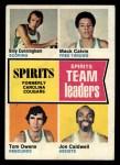 1974 Topps #221   Joe Caldwell / Tom Owens / Mack Calvin / Billy Cunningham Front Thumbnail