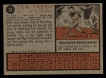 1962 Topps #31   Tom Tresh Back Thumbnail