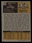 1971 Topps #150  Gale Sayers  Back Thumbnail