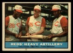 1961 Topps #25  Reds Heavy Artillery  -  Vada Pinson / Gus Bell / Frank Robinson Front Thumbnail