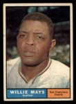1961 Topps #150  Willie Mays  Front Thumbnail