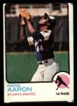 1973 Topps #100   Hank Aaron Front Thumbnail
