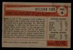 1954 Bowman #6   Nellie Fox Back Thumbnail