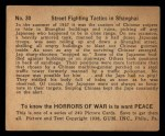 1938 Gum Inc. Horrors of War #30   Street Fighting Tactics in Shanghai Back Thumbnail