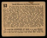 1938 Gum Inc. Horrors of War #53   Bomb Wounds the Panay Commander Back Thumbnail