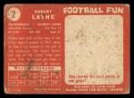 1958 Topps #2  Bobby Layne  Back Thumbnail