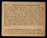 1938 Gum Inc. Horrors of War #27  Mobs Add Terror to Shanghai Shambles  Back Thumbnail