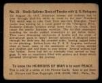 1938 Gum Inc. Horrors of War #26   Shells Splinter Deck of Tender with U.S. Refugees Back Thumbnail