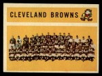 1960 Topps #31  Browns Team Checklist  Front Thumbnail