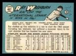 1965 Topps #467  Ray Washburn  Back Thumbnail