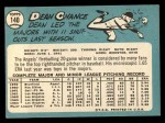 1965 Topps #140  Dean Chance  Back Thumbnail