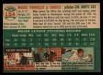1954 Topps #154   Mike Fornieles Back Thumbnail