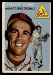1954 Topps #158   Peanuts Lowrey Front Thumbnail