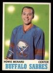 1970 Topps #124  Howie Menard  Front Thumbnail