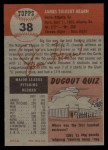 1953 Topps #38  Jim Hearn  Back Thumbnail