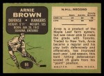 1970 Topps #66   Arnie Brown Back Thumbnail