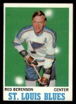1970 Topps #103   Red Berenson Front Thumbnail