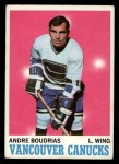 1970 Topps #121  Andre Boudrias  Front Thumbnail