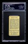1911 T205 #107   Rube Kroh Back Thumbnail