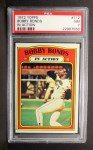 1972 Topps #712  In Action  -  Bobby Bonds Front Thumbnail