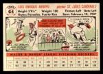 1956 Topps #64  Luis Arroyo  Back Thumbnail