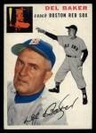 1954 Topps #133   Del Baker Front Thumbnail