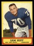 1963 Topps #59  Sam Huff  Front Thumbnail