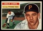 1956 Topps #56  Dale Long  Front Thumbnail