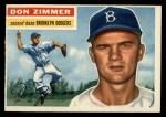 1956 Topps #99  Don Zimmer  Front Thumbnail