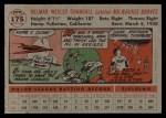 1956 Topps #175   Del Crandall Back Thumbnail