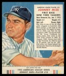1953 Red Man #18 ALx Johnny Mize  Front Thumbnail