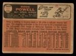 1966 Topps #167  Boog Powell  Back Thumbnail