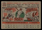 1956 Topps #232  Maurice Toby Atwell  Back Thumbnail