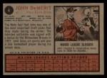 1962 Topps #4  John DeMerit  Back Thumbnail