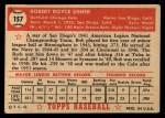 1952 Topps #157   Bobby Usher Back Thumbnail