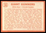 1964 Topps #306  Giants Gunners  -  Willie Mays / Orlando Cepeda Back Thumbnail