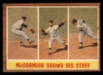 1962 Topps #319   -  Mike McCormick McCormick Shows His Stuff Front Thumbnail