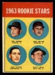 1963 Topps #208   Rookie Stars    -  Ron Herbel / John Miller / Wally Wolf / Ron Taylor Front Thumbnail