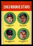 1963 Topps #386 COR  Rookie Stars  -  Ed Kirkpatrick / John Bateman / Garry Roggenburk / Larry Bearnarth Front Thumbnail