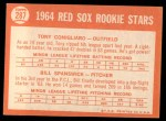 1964 Topps #287   -  Tony Conigliaro / Bill Spanswick Red Sox Rookies Back Thumbnail