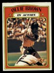 1972 Topps #552  In Action  -  Ollie Brown Front Thumbnail