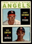 1964 Topps #127   -  Dick Simpson / Aubrey Gatewood Angels Rookies Front Thumbnail