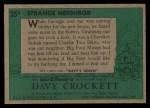 1956 Topps Davy Crockett #35 GRN  Strange Neighbor  Back Thumbnail