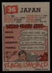 1956 Topps Flags of the World #36  Japan  Back Thumbnail