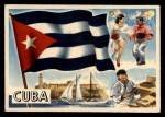 1956 Topps Flags of the World #50  Cuba  Front Thumbnail