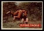 1956 Topps Davy Crockett #37 GRN  Flying Tackle  Front Thumbnail