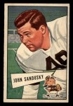 1952 Bowman Small #50   John Sandusky Front Thumbnail